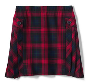 Lands' End offers a Red Plaid for Middle School.